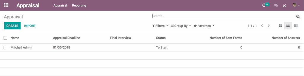 Phần mềm đánh giá nhân sự Odoo 01