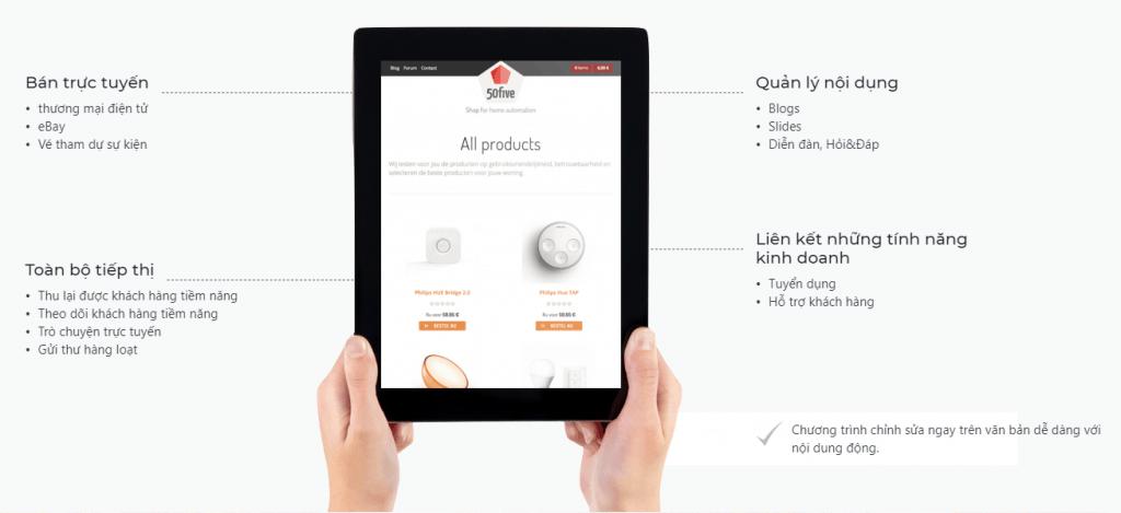 Phần mềm Odoo thiết kế Website